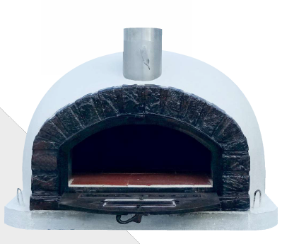 Traditional Wood Fired Brick Pizza Oven - Brazza Aluminum Door