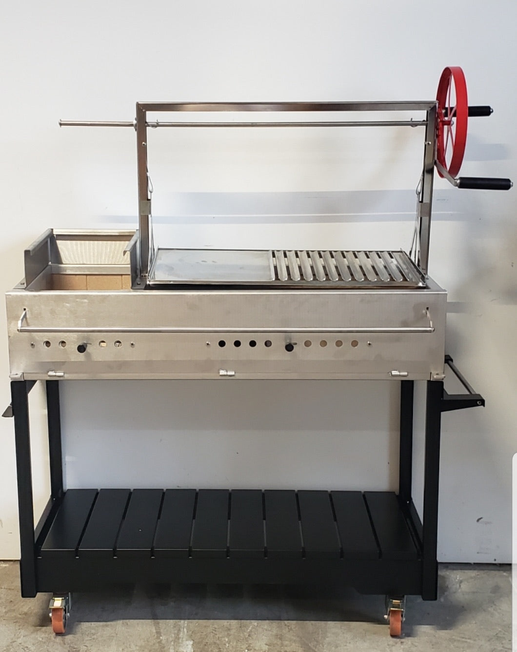 Argentinian Grill - Stainless Steel with cart