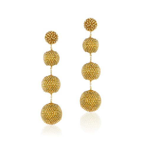 Gumball Earrings Gold