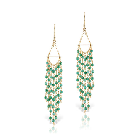 Raindrop Earrings Green