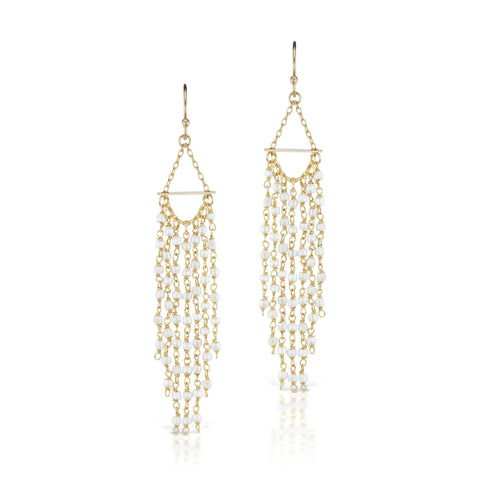 Raindrop Earrings White