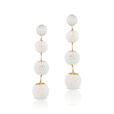 Gumball Earrings White