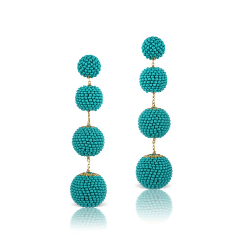Gumball Earrings Turquoise Blue