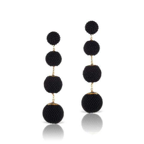 Gumball Earrings Black