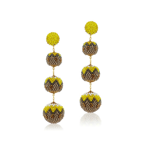 Gumball Earrings Yellow Ornament