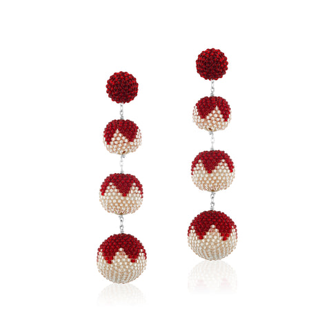 Gumball Earrings Red tulips