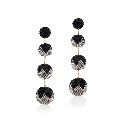 Gumball Earrings Black Tulips