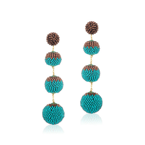 Gumball Earrings Green/Bronze