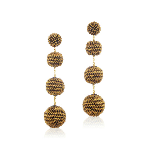 Gumball Earrings Bronze