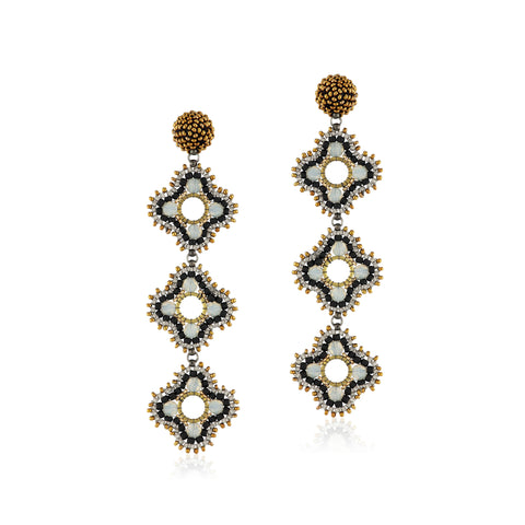 Quora earrings Gray