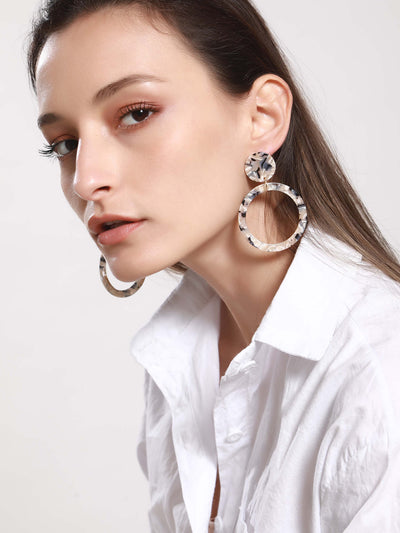 Hoop Drop Earrings - Hipimi