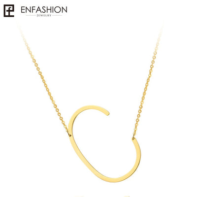 Stainless Steel Initial Necklace - Hipimi
