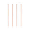 Set of 4 Wide Copper Cocktail Straws - Hipimi