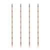 Set of 4 Bamboo Copper Straws - Hipimi