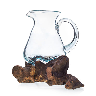 Molten Glass on Wood- Water Jug - Hipimi