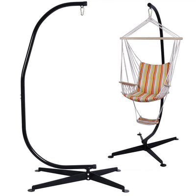 Solid Steel C Hammock Frame Stand - Hipimi