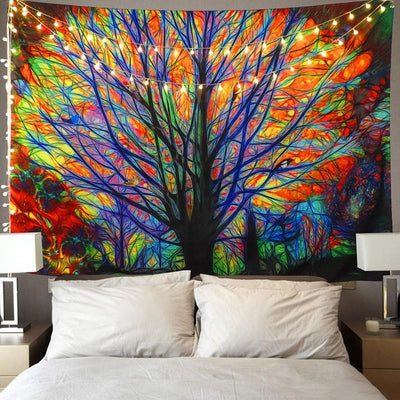 Colorful Psychedelic Tree Tapestry - Hipimi
