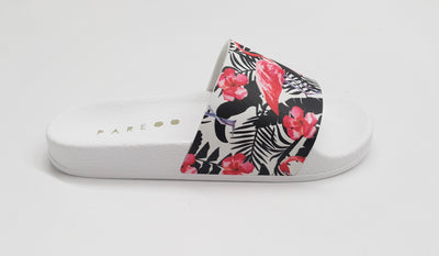 Flamingo Aruba White Slides Shoes - Hipimi