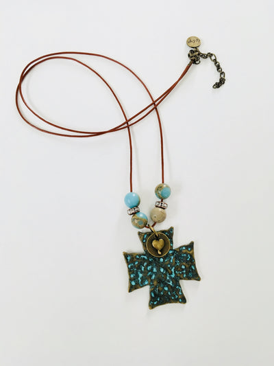 Cross Boho Necklace - Hipimi