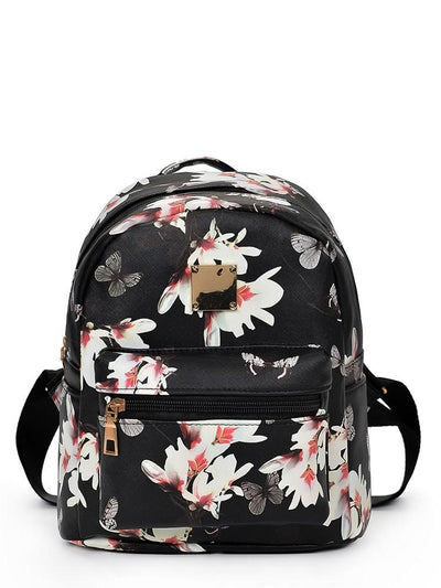 Vintage Flower Print Backpack - Hipimi