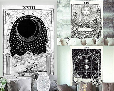 Tarot ,The Moon ,The Star, The Sun Tapestry