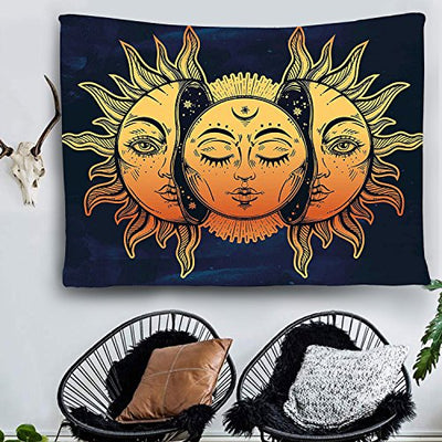 Indian Moon and Sun Tapestry Celestial Energy - Hipimi