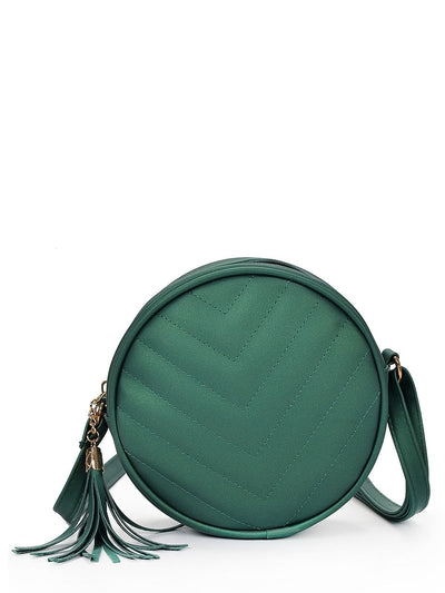 Crossbody Bag With Tassel - Hipimi