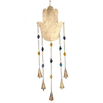 RECYCLED HAMSA WIND CHIME - Hipimi
