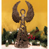 16-INCH METALWORK ANGEL - WINGS UP - CROIX DES BOUQUETS (H) - Hipimi