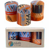 Hand Painted Candles in Uzushi Design (box of three) - Nobunto - Hipimi