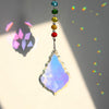 "Chakra Crystal Suncatcher with 3""  Prism Drops Rainbow - Hipimi"