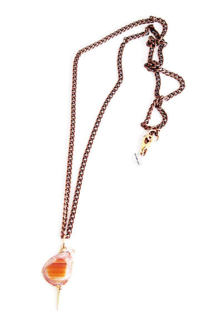 Copper necklace with agate stone - Hipimi