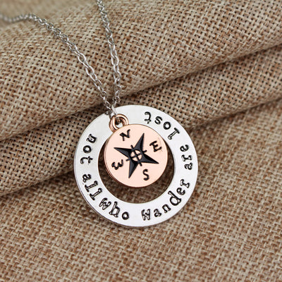 NOT ALL WHO WANDER ARE LOST NECKLACE - Hipimi