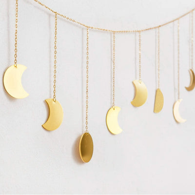 MOON PHASE WALL HANGING (GOLD or Silver) - Hipimi