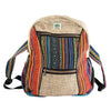 Ethnic Hemp Backpack 12 x 16 x 4 - Hipimi