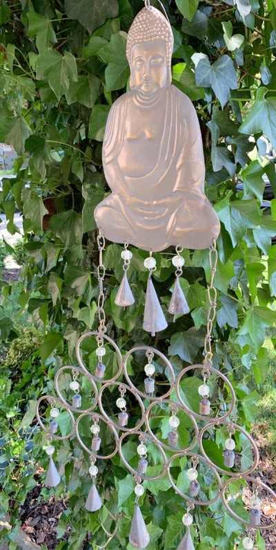 RECYCLED SITTING BUDDHA WINDCHIME - Hipimi