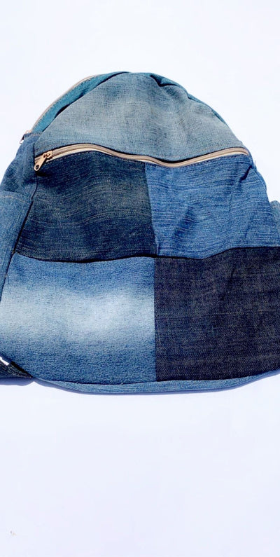 JEAN PATCHWORK BACKPACK - Hipimi