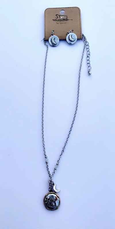 """TO THE MOON"" NECKLACE SET - Hipimi"