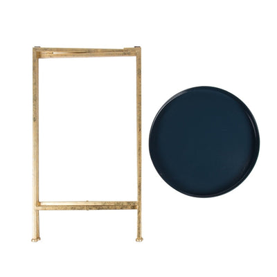 Round Metal Foldable Tray Accent Table - Hipimi