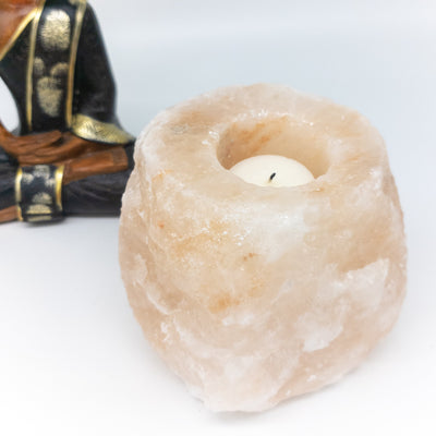 NEW! Pink Himalayan salt candle holders - Hipimi