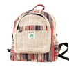 Multi Color Striped Mini Hemp Backpack - Hipimi