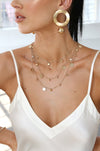 All in Layered Crystal Necklace Set - Hipimi