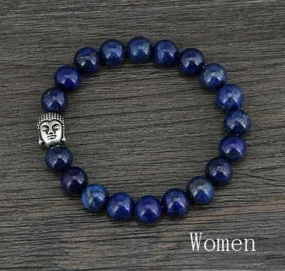 New Natural 8MM Lapis Luzuli Antique Buddha Beads - Hipimi