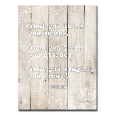Ready2HangArt 'Buddha Quote' Inspirational Canvas Art by Olivia Rose - Hipimi