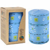 HAND PAINTED CANDLES IN BLUE MASIKA DESIGN (PILLAR) - NOBUNTO - Hipimi