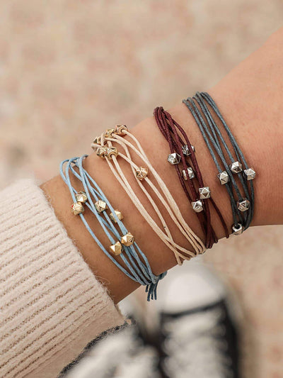 Multi-layered String Bracelet Set 4pcs - Hipimi