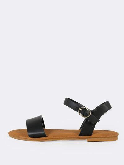 Flat Sandal Single Band Ankle Strap - Hipimi