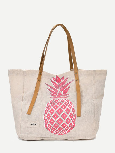 Pineapple Print Tote Bag - Hipimi