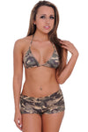 Women's Camo String Shorts Bikini Beach Swimwear - Hipimi