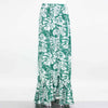 Flared Bottom Leaf Maxi Skirt - Hipimi